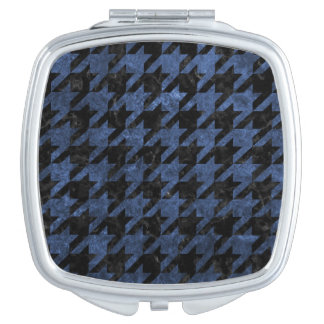 HOUNDSTOOTH1 BLACK MARBLE & BLUE STONE MAKEUP MIRRORS