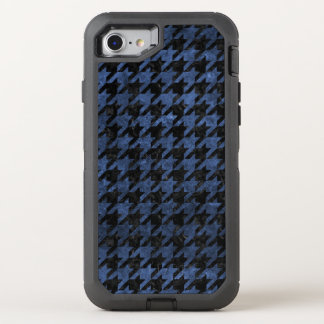 HOUNDSTOOTH1 BLACK MARBLE & BLUE STONE OtterBox DEFENDER iPhone 8/7 CASE