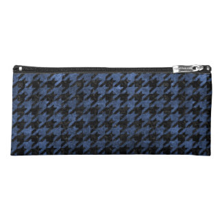 HOUNDSTOOTH1 BLACK MARBLE & BLUE STONE PENCIL CASE