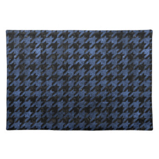 HOUNDSTOOTH1 BLACK MARBLE & BLUE STONE PLACEMAT