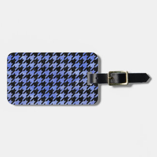 HOUNDSTOOTH1 BLACK MARBLE & BLUE WATERCOLOR BAG TAG