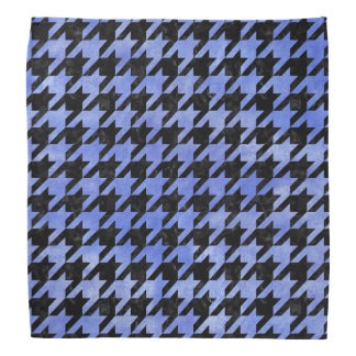 HOUNDSTOOTH1 BLACK MARBLE & BLUE WATERCOLOR BANDANA
