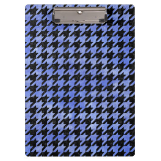 HOUNDSTOOTH1 BLACK MARBLE & BLUE WATERCOLOR CLIPBOARD