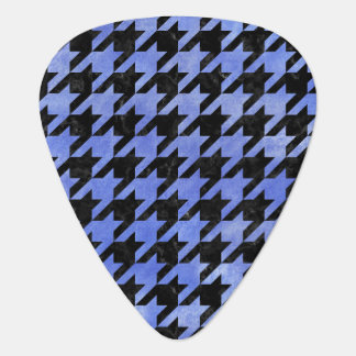 HOUNDSTOOTH1 BLACK MARBLE & BLUE WATERCOLOR GUITAR PICK