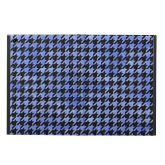 HOUNDSTOOTH1 BLACK MARBLE & BLUE WATERCOLOR iPad AIR COVER