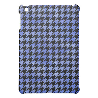 HOUNDSTOOTH1 BLACK MARBLE & BLUE WATERCOLOR iPad MINI COVERS