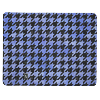 HOUNDSTOOTH1 BLACK MARBLE & BLUE WATERCOLOR JOURNAL