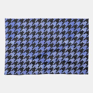 HOUNDSTOOTH1 BLACK MARBLE & BLUE WATERCOLOR KITCHEN TOWEL