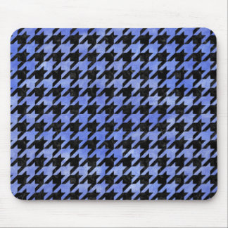 HOUNDSTOOTH1 BLACK MARBLE & BLUE WATERCOLOR MOUSE PAD