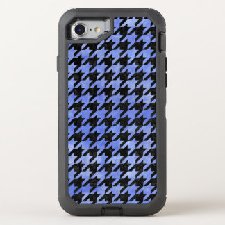 HOUNDSTOOTH1 BLACK MARBLE & BLUE WATERCOLOR OtterBox DEFENDER iPhone 7 CASE