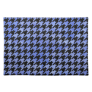 HOUNDSTOOTH1 BLACK MARBLE & BLUE WATERCOLOR PLACEMAT