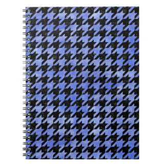HOUNDSTOOTH1 BLACK MARBLE & BLUE WATERCOLOR SPIRAL NOTEBOOK