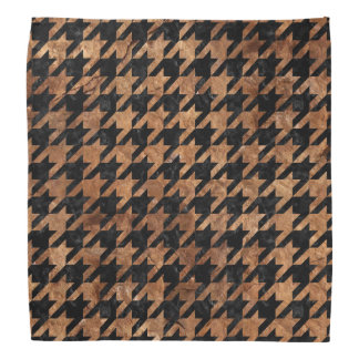 HOUNDSTOOTH1 BLACK MARBLE & BROWN STONE BANDANA