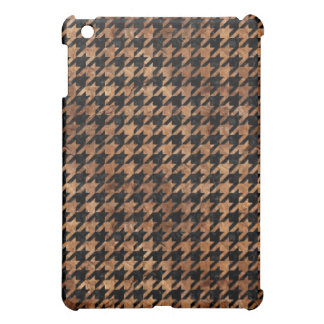 HOUNDSTOOTH1 BLACK MARBLE & BROWN STONE iPad MINI CASE