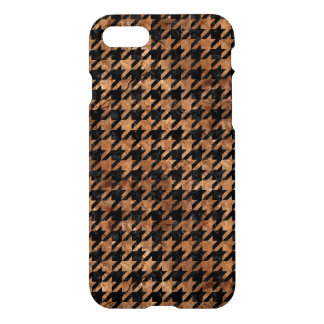 HOUNDSTOOTH1 BLACK MARBLE & BROWN STONE iPhone 7 CASE