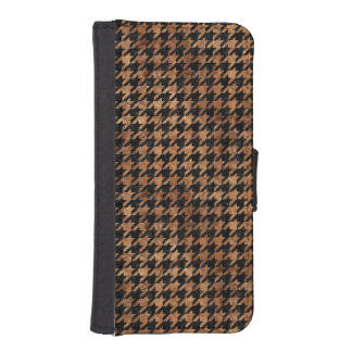 HOUNDSTOOTH1 BLACK MARBLE & BROWN STONE iPhone SE/5/5s WALLET CASE