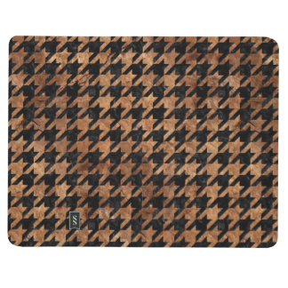 HOUNDSTOOTH1 BLACK MARBLE & BROWN STONE JOURNAL