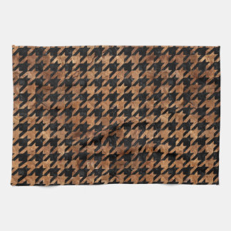 HOUNDSTOOTH1 BLACK MARBLE & BROWN STONE KITCHEN TOWEL