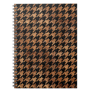 HOUNDSTOOTH1 BLACK MARBLE & BROWN STONE NOTEBOOKS