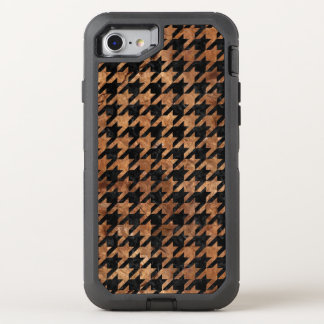 HOUNDSTOOTH1 BLACK MARBLE & BROWN STONE OtterBox DEFENDER iPhone 8/7 CASE