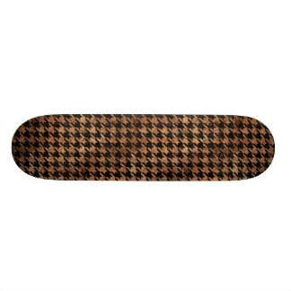 HOUNDSTOOTH1 BLACK MARBLE & BROWN STONE SKATE DECK