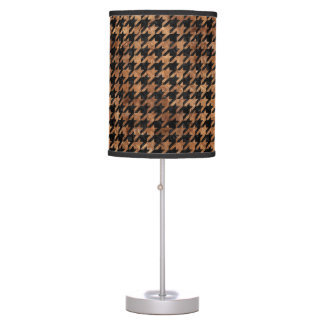 HOUNDSTOOTH1 BLACK MARBLE & BROWN STONE TABLE LAMP