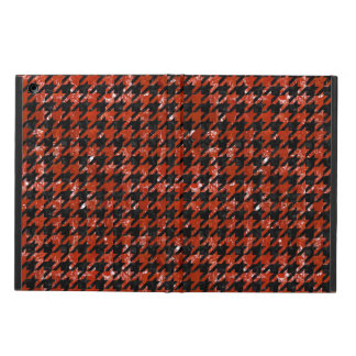 HOUNDSTOOTH1 BLACK MARBLE & RED MARBLE CASE FOR iPad AIR