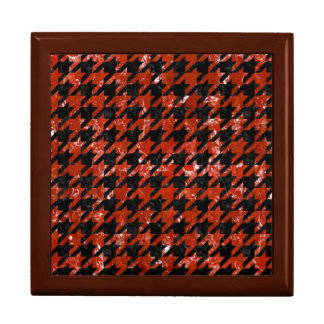 HOUNDSTOOTH1 BLACK MARBLE & RED MARBLE GIFT BOX