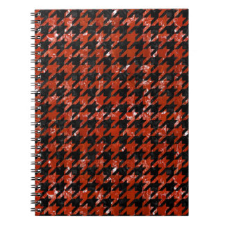 HOUNDSTOOTH1 BLACK MARBLE & RED MARBLE NOTEBOOKS
