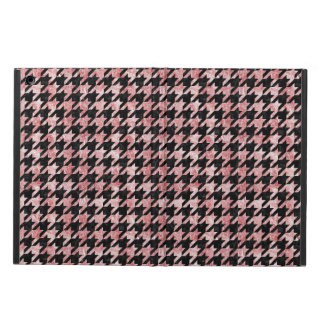 HOUNDSTOOTH1 BLACK MARBLE & RED & WHITE MARBLE iPad AIR CASE