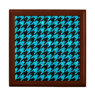 HOUNDSTOOTH1 BLACK MARBLE & TURQUOISE MARBLE GIFT BOX