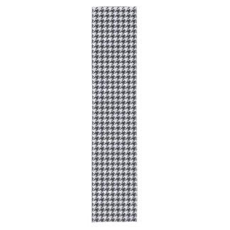 HOUNDSTOOTH1 BLACK MARBLE & WHITE MARBLE SHORT TABLE RUNNER