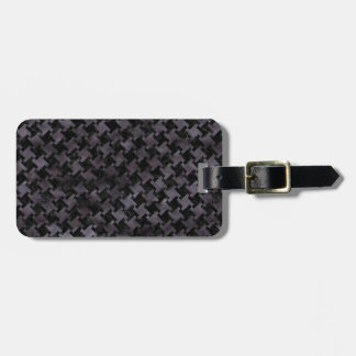HOUNDSTOOTH2 BLACK MARBLE & BLACK WATERCOLOR BAG TAG