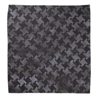 HOUNDSTOOTH2 BLACK MARBLE & BLACK WATERCOLOR BANDANA
