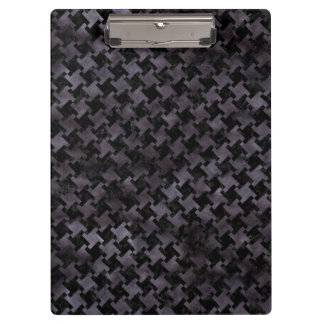 HOUNDSTOOTH2 BLACK MARBLE & BLACK WATERCOLOR CLIPBOARD