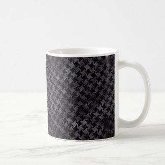 HOUNDSTOOTH2 BLACK MARBLE & BLACK WATERCOLOR COFFEE MUG