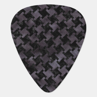 HOUNDSTOOTH2 BLACK MARBLE & BLACK WATERCOLOR GUITAR PICK