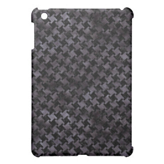 HOUNDSTOOTH2 BLACK MARBLE & BLACK WATERCOLOR iPad MINI COVER