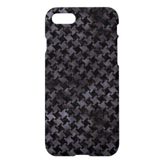 HOUNDSTOOTH2 BLACK MARBLE & BLACK WATERCOLOR iPhone 7 CASE