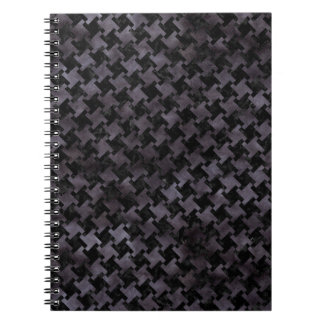 HOUNDSTOOTH2 BLACK MARBLE & BLACK WATERCOLOR NOTEBOOKS