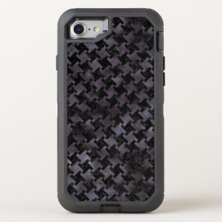 HOUNDSTOOTH2 BLACK MARBLE & BLACK WATERCOLOR OtterBox DEFENDER iPhone 8/7 CASE