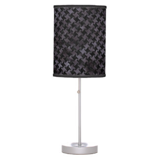 HOUNDSTOOTH2 BLACK MARBLE & BLACK WATERCOLOR TABLE LAMP