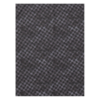 HOUNDSTOOTH2 BLACK MARBLE & BLACK WATERCOLOR TABLECLOTH