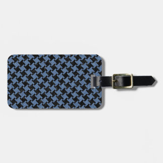 HOUNDSTOOTH2 BLACK MARBLE & BLUE DENIM BAG TAG