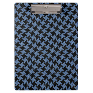 HOUNDSTOOTH2 BLACK MARBLE & BLUE DENIM CLIPBOARD