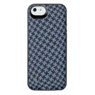 HOUNDSTOOTH2 BLACK MARBLE & BLUE DENIM iPhone SE/5/5s BATTERY CASE