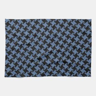 HOUNDSTOOTH2 BLACK MARBLE & BLUE DENIM KITCHEN TOWEL