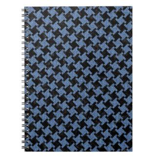 HOUNDSTOOTH2 BLACK MARBLE & BLUE DENIM NOTEBOOKS