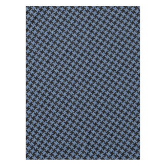 HOUNDSTOOTH2 BLACK MARBLE & BLUE DENIM TABLECLOTH