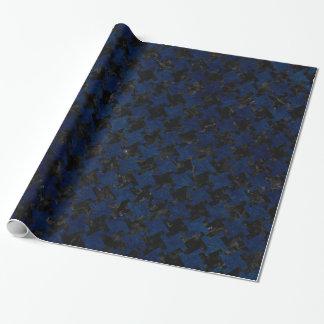 HOUNDSTOOTH2 BLACK MARBLE & BLUE GRUNGE